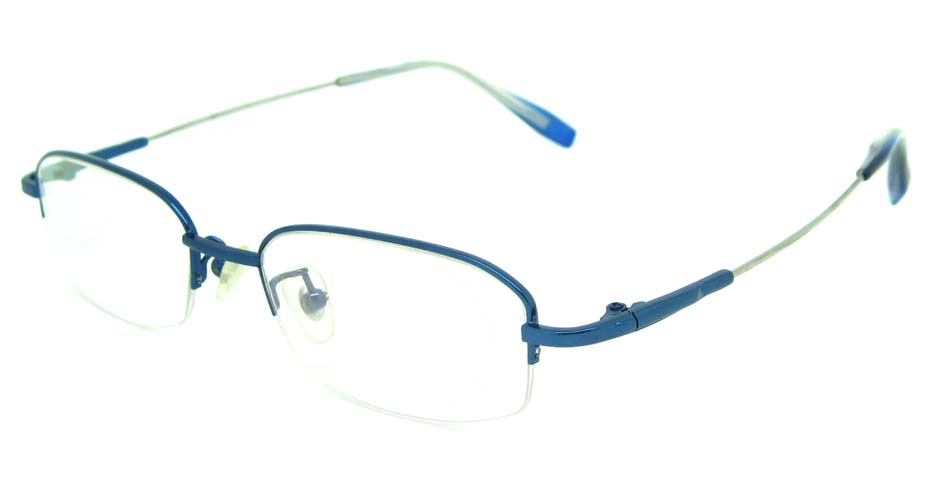 blue metal oval glasses frame  JS-YKG312