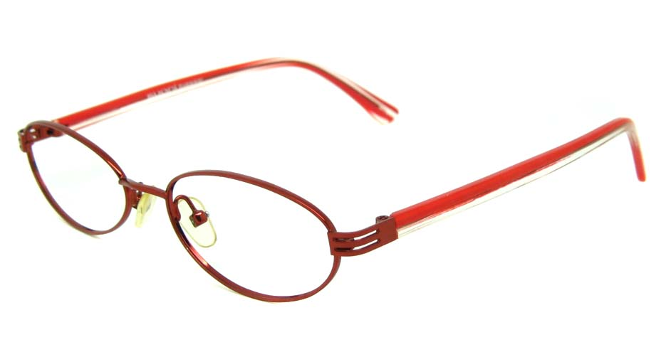 red metal oval glasses frame  JS-SN8630