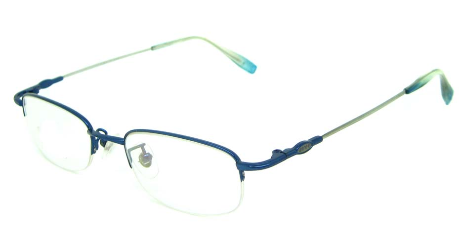 blue metal rectangular glasses frame    JS-YKG318
