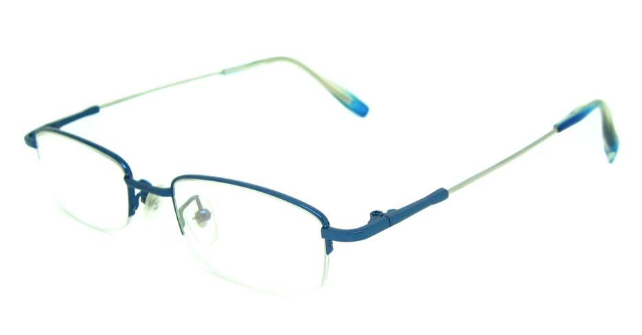blue metal rectangular glasses frame    JS-YKG306