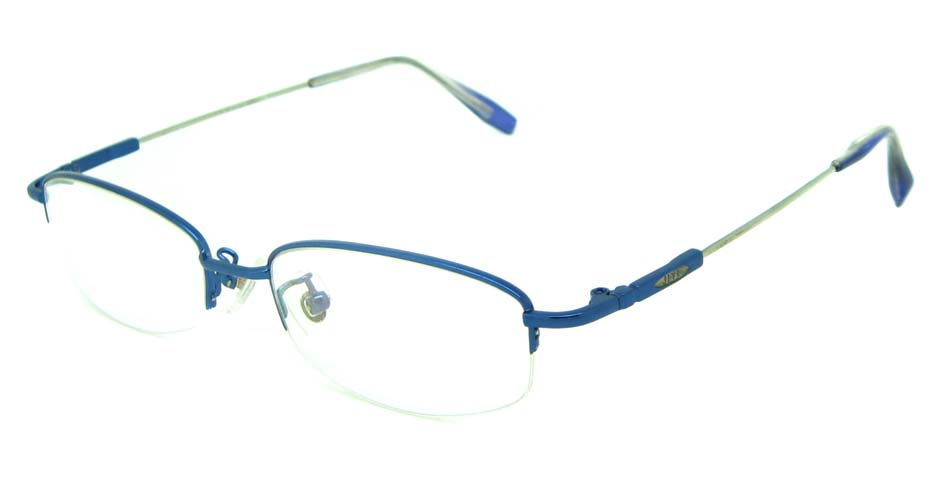 blue metal rectangular glasses frame JS-YKG302