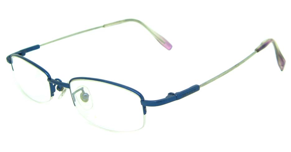blue metal rectangular glasses frame    JS-YKG301