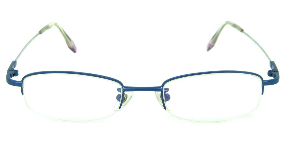 blue metal rectangular glasses frame    JS-YKG301