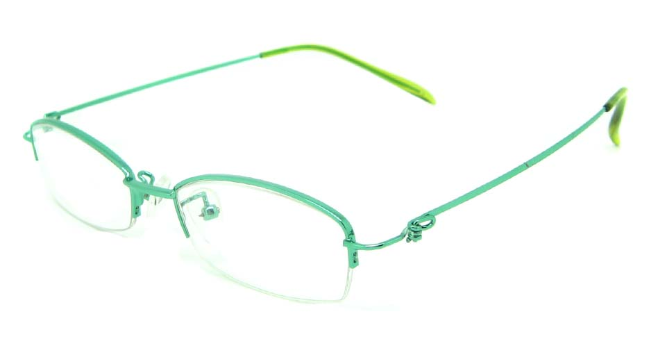 green metal rectangular glasses frame    JS-SML3009