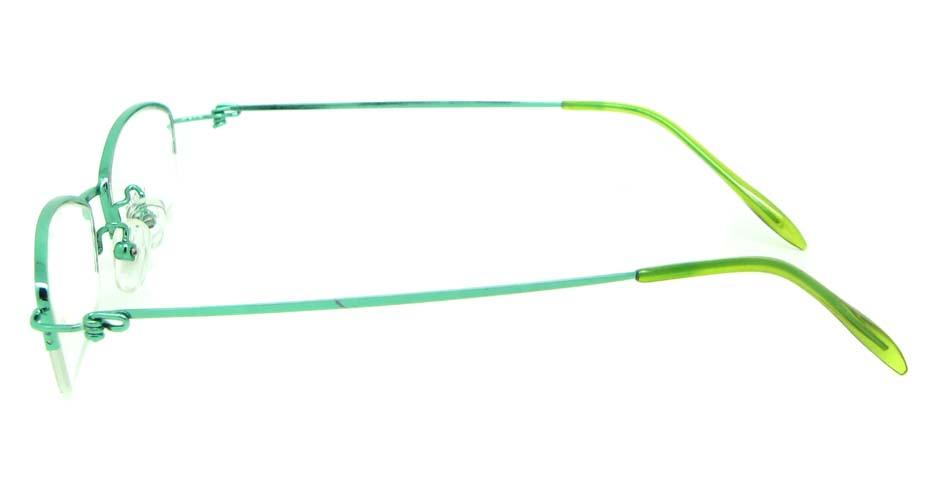 green metal rectangular glasses frame    JS-SML3009