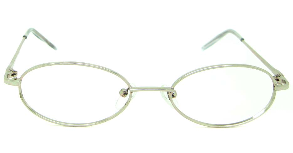silver metal rectangular  glasses frame    JS-SML807-Y