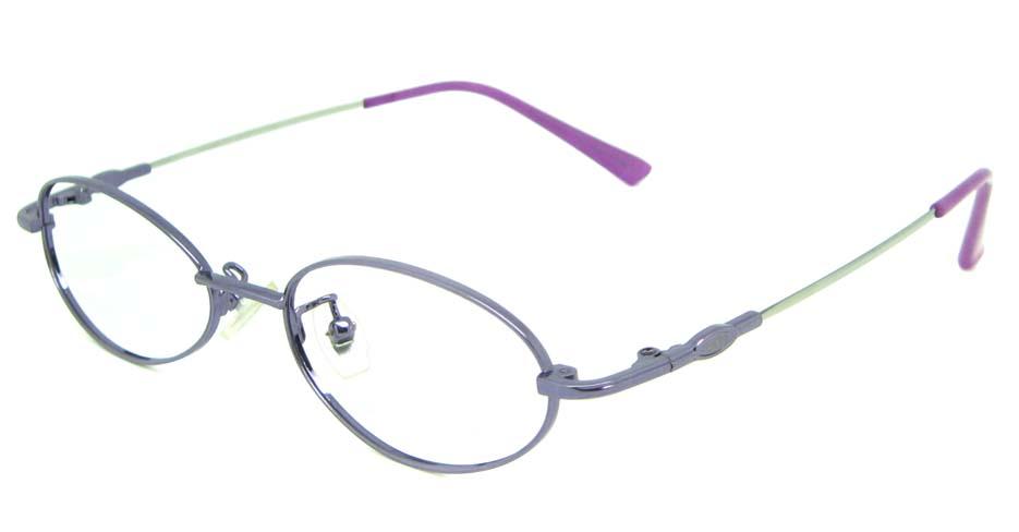 purple metal rectangular glasses frame    JS-LJS9927-Z