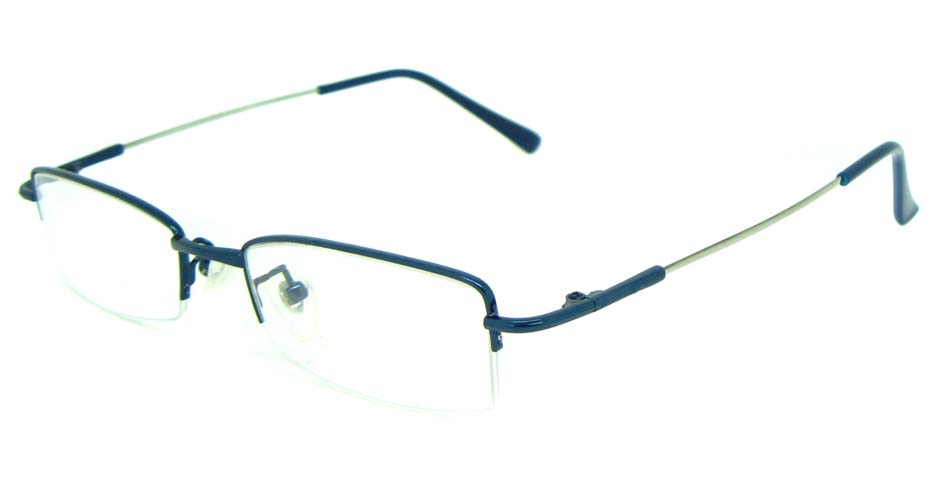 blue metal rectangular glasses frame      JS-LJS9930-L