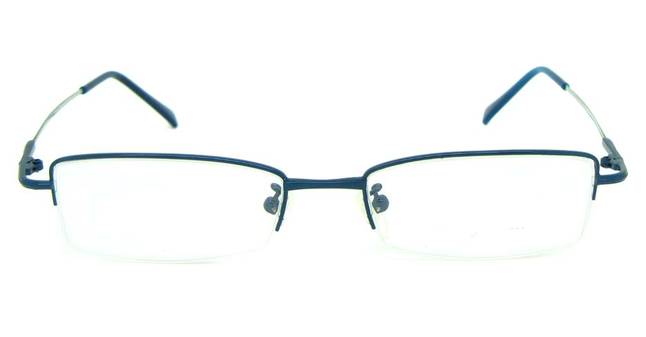 blue metal rectangular glasses frame      JS-LJS9930-L
