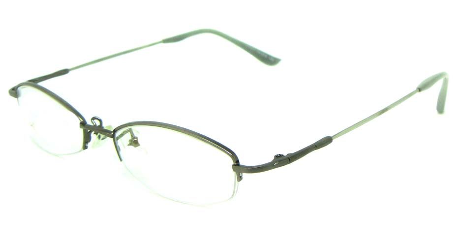 gun metal oval  glasses frame JS-LJS9919-Q