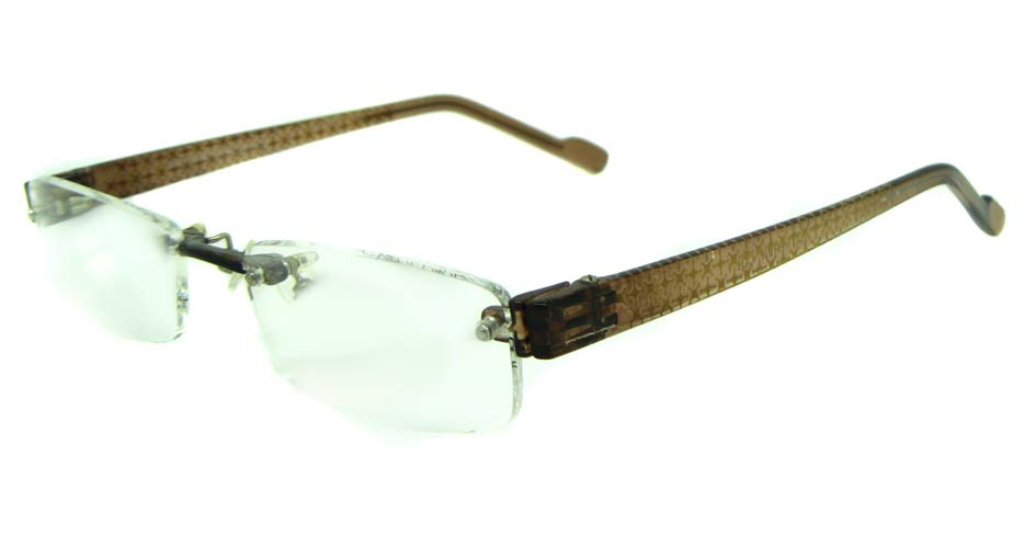 brown TR90 rectangular glasses frame JS-JDH200818-C1