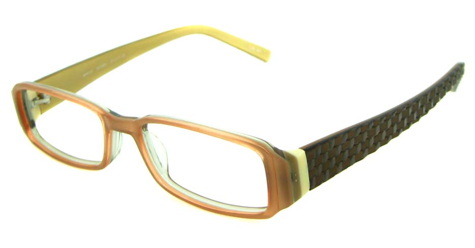 brown with balck acetate rectangular   glasses frame HL-ST2403-107