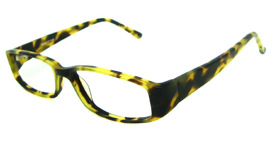 Tortoise acetate rectangular glasses frame HL-PK55763-HA
