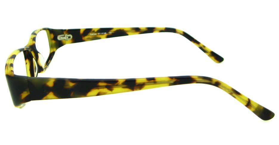Tortoise acetate rectangular glasses frame HL-PK55763-HA