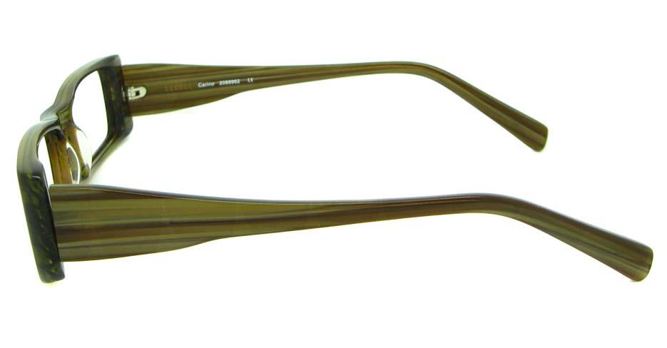 khaki acetate rectangular glasses frame HL-PK55651-GN