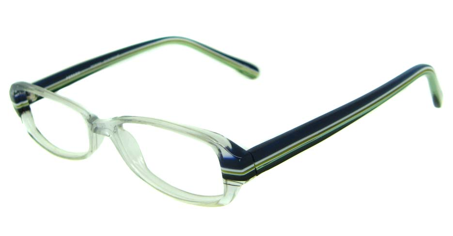 blue acetate rectangular glasses frame HL-PE8006-C13