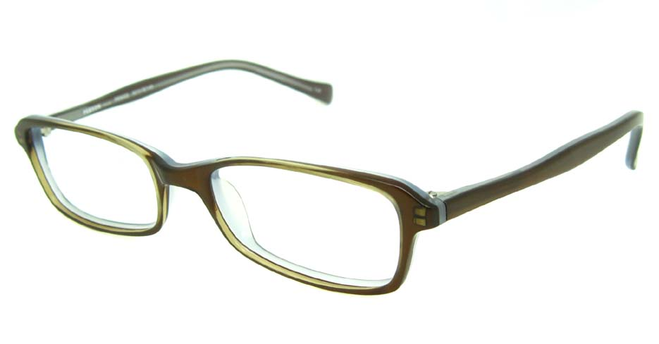 khaki acetate rectangular glasses frame HL-PE8002-C20
