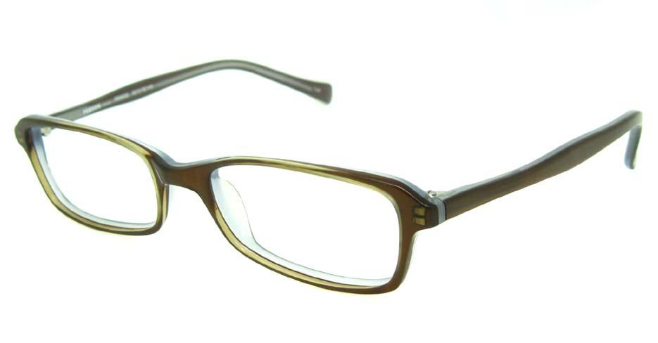khaki acetate rectangular glasses frame HL-PE8002-C20
