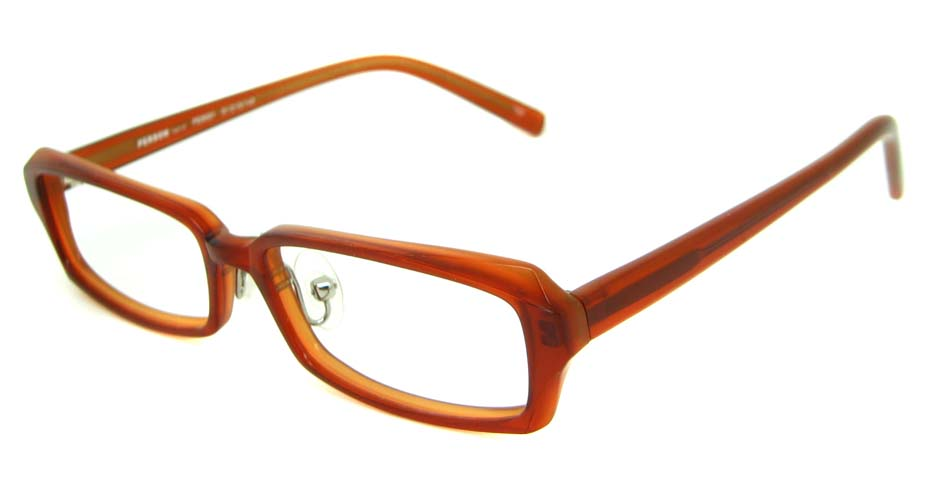 red acetate rectangular glasses frame HL-PE8001-C02