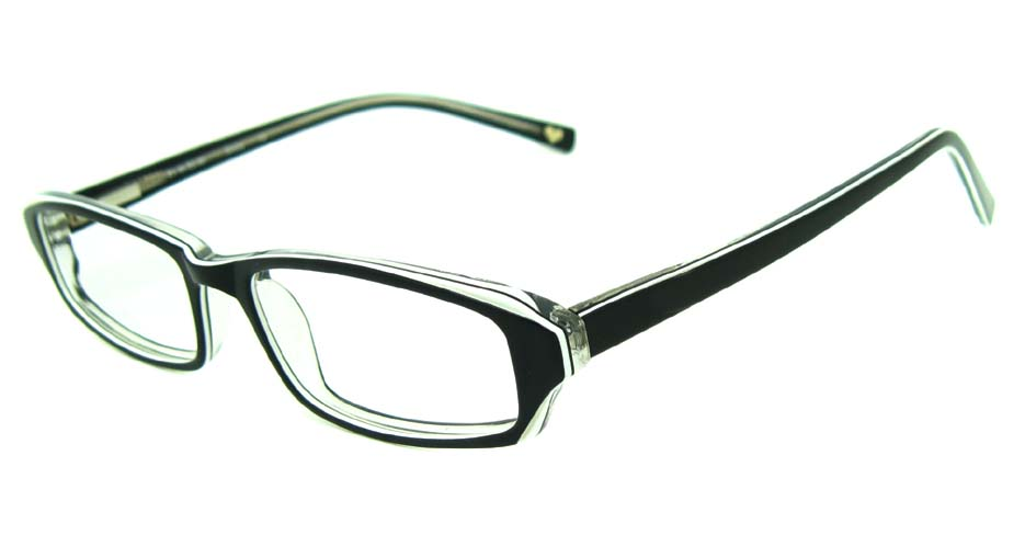 black acetate rectangular glasses frame HL-BE0001-HB