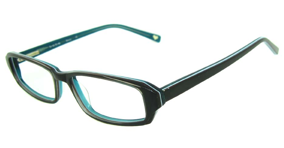 black acetate rectangular glasses frame HL-BE0001-HL