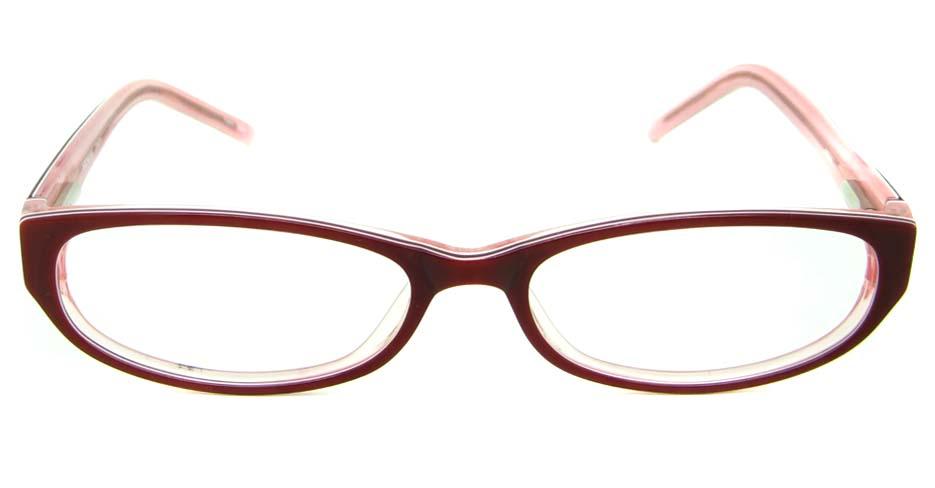 pink acetate rectangular glasses frame HL-BUM0001-H