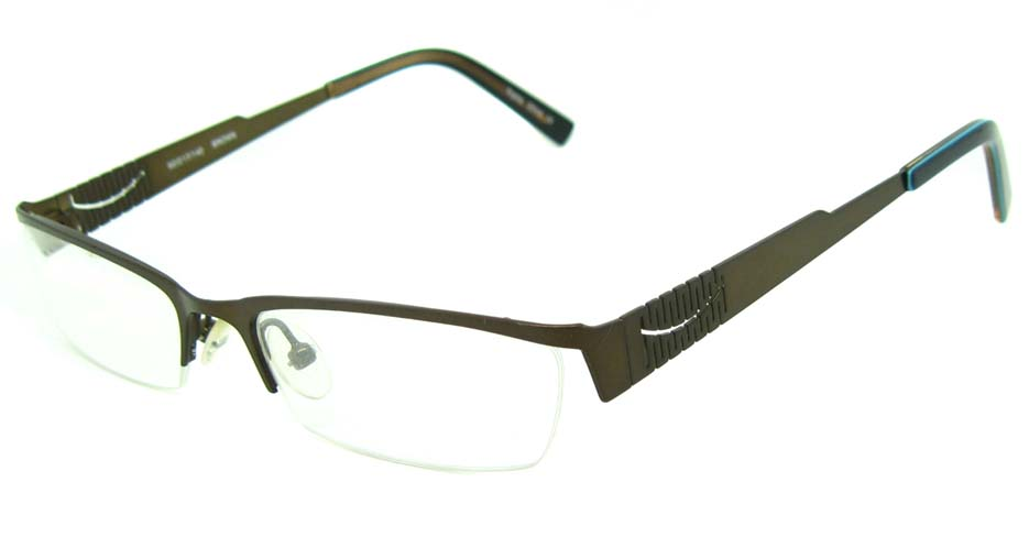 brown metal rectangular glasses frame HL-797367
