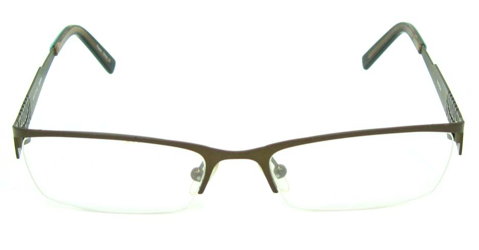 brown metal rectangular glasses frame HL-797367