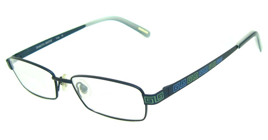 blue metal rectangular glasses frame HL-DAK0002-L