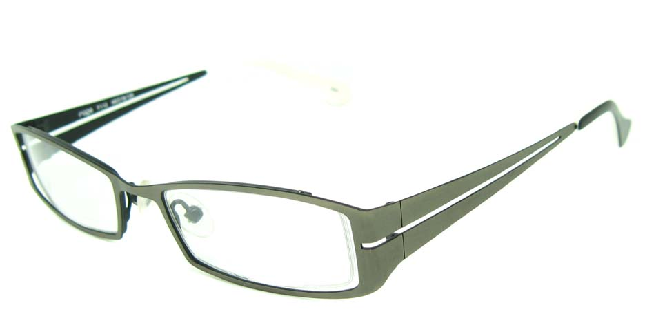 gun with black metal rectangular glasses frame  HL-F112