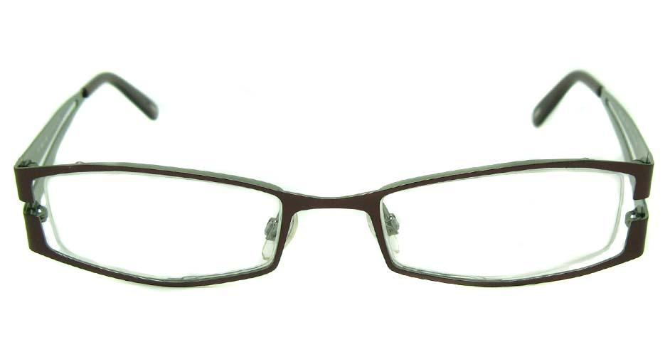 coffee metal rectangular  glasses frame HL-209
