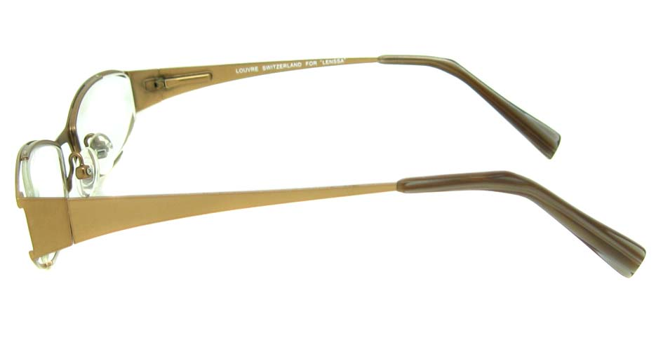 brown metal glasses frame HL-LE313-PR148