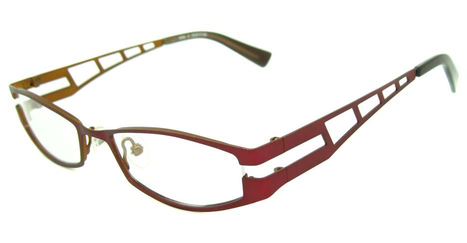 red metal rectangular glasses frame  HL-4238