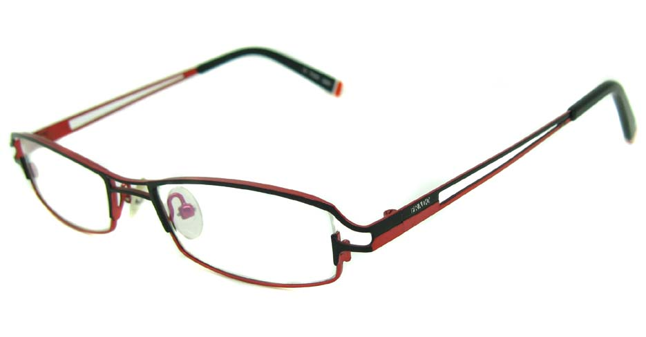 red metal rectangular glasses frame HL-PD037-C282