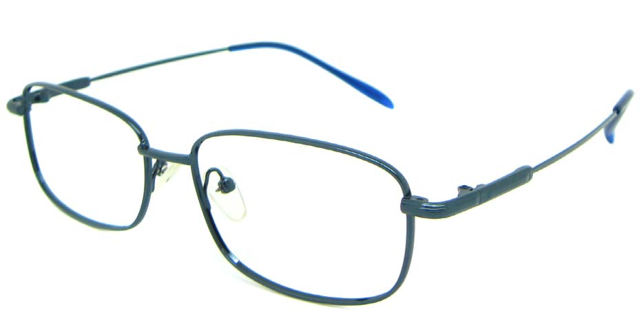 Blue metal rectangular glasses frame   JS-SML1636-L