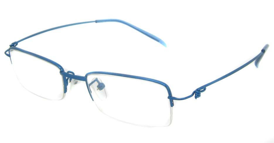Blue metal rectangular glasses frame JS-SML3036-L