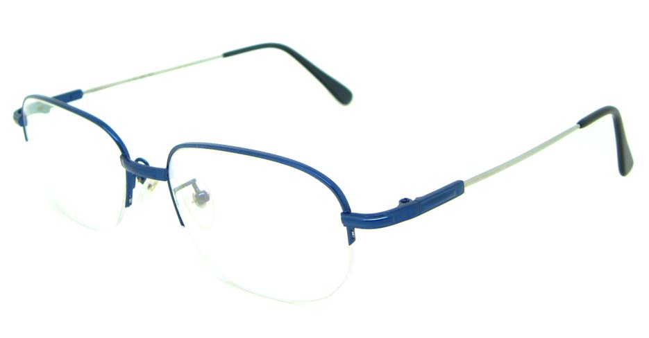 Blue metal oval glasses frame   JS-LJS9909-L