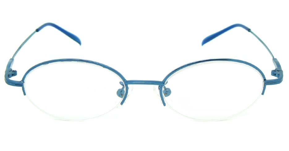 Blue metal oval glasses frame  JS-SML3002-L