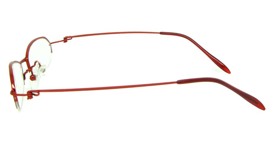 Red metal cat eye glasses frame JS-SML3025-H