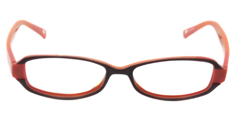 Orange acetate rectangular  glasses frame  HL-BE0001-CHS