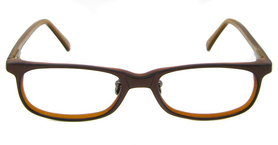brown acetate rectangular glasses frame HL-MF367