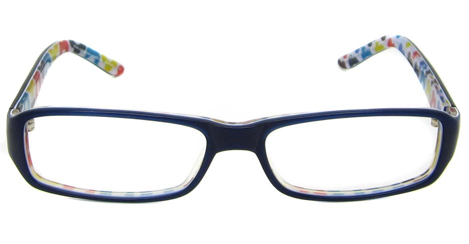 Blue acetate rectangular  glasses frame  HL-MOD282-C700