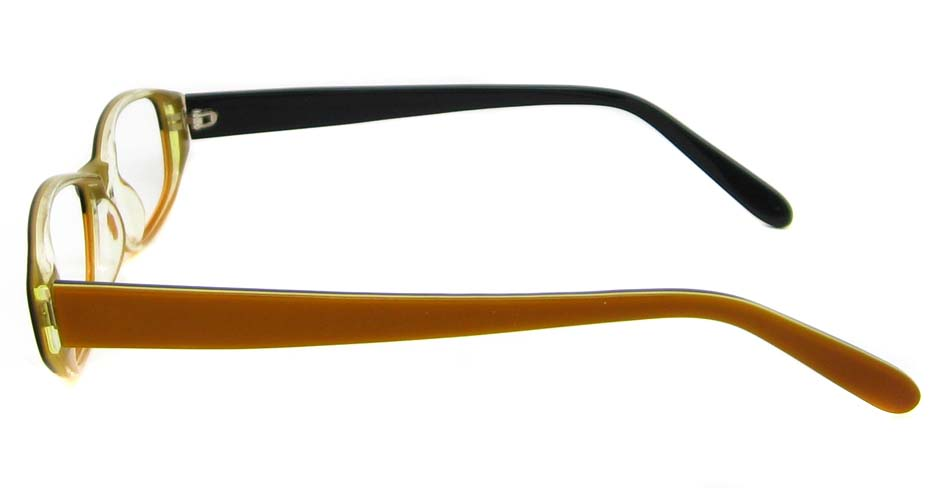Khaki acetate rectangular glasses frame  HL-A4006