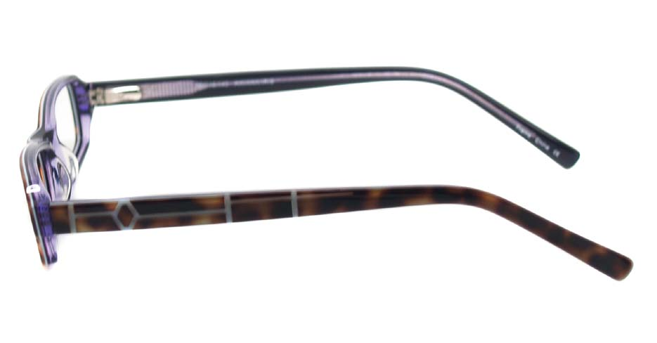 Tortoise acetate rectangular glasses frame HL-378670