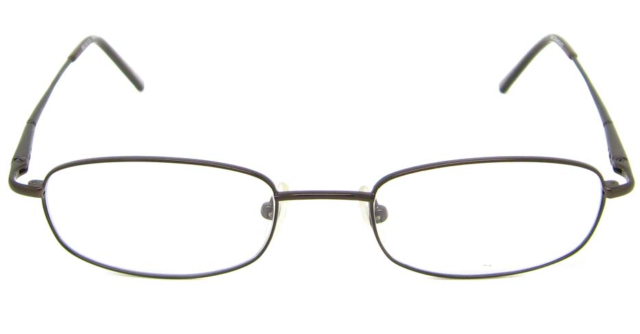 grey rectangular metal glasses frame  HL-CELLE-B