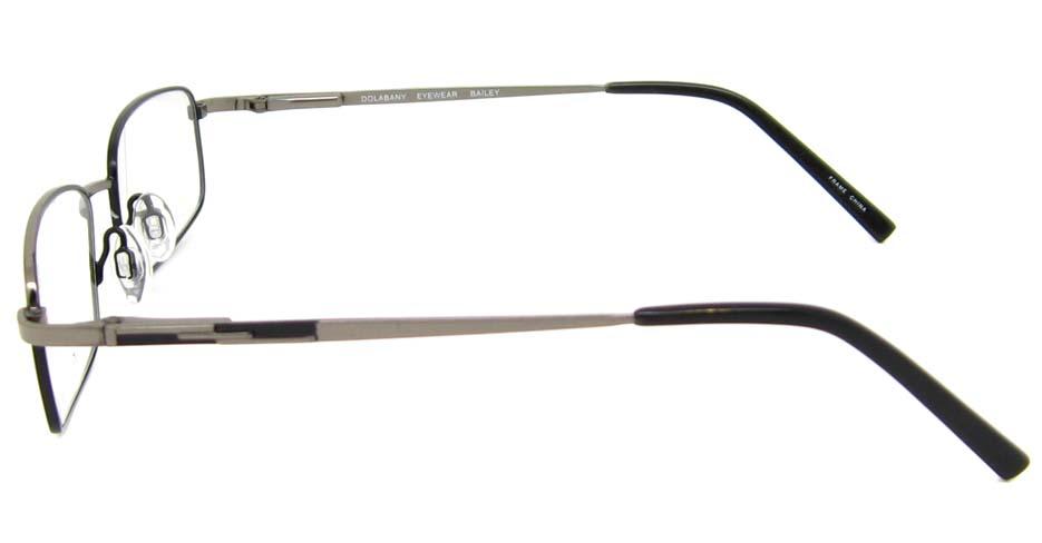 grey  oval metal glasses frame HL-DOLA001-HZS