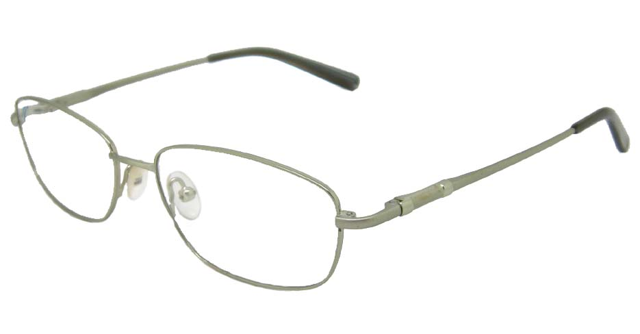 Silver oval metal glasses frame    HL-RA8695