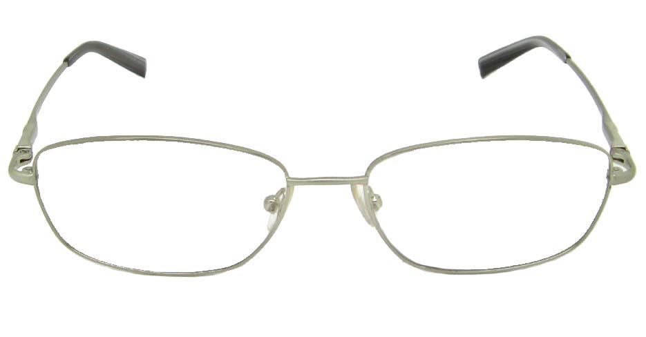 Silver oval metal glasses frame    HL-RA8695