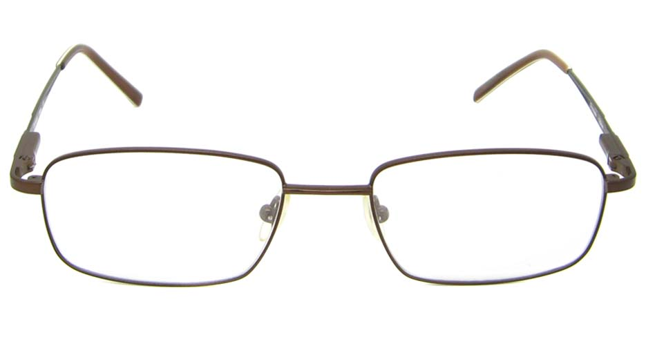 coffee oval metal  glasses frame  HL-MEN