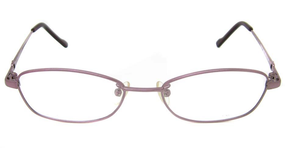 pink titanium  oval glasses frame  HL-b2025-E08
